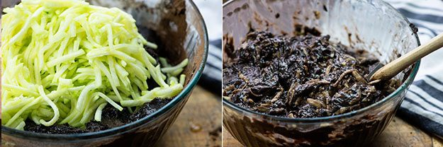zucchini in chocolate zucchini bread