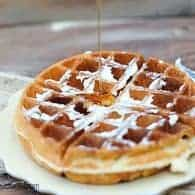 The Best Belgian Waffle Recipe Super Crisp And Airy