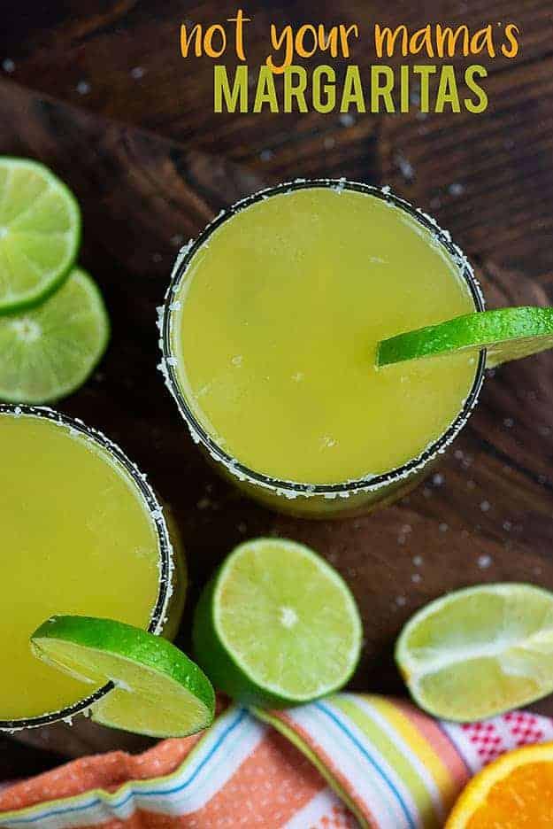 Margarita in a salted rim glass.