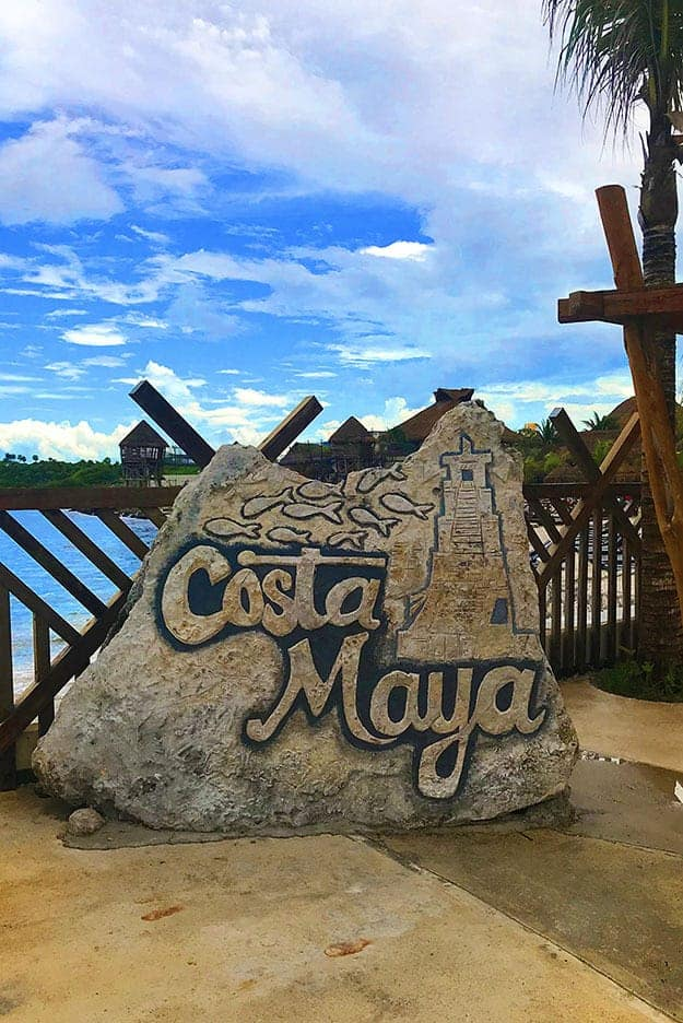 The port of Costa Maya