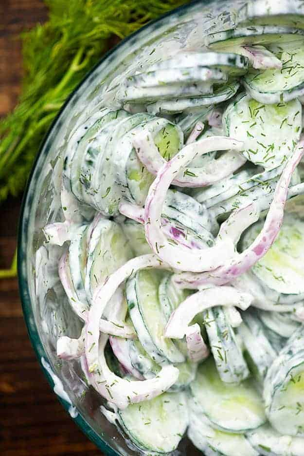 Creamy Cucumber Salad Recipe Perfect For Hot Summer Nights