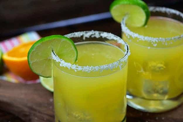 Easy margarita recipe in glasses