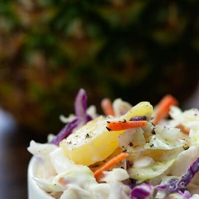 Pineapple Coleslaw recipe!