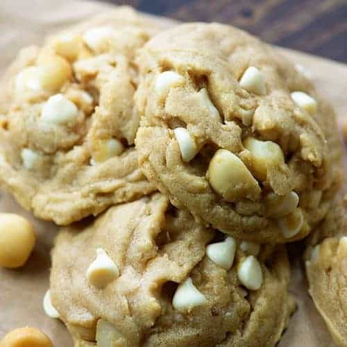 white chocolate macadamia nut cookies buns in my oven