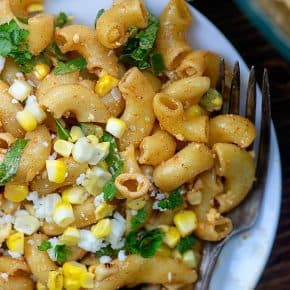 Mexican Street Corn Pasta Salad - the perfect summer salad!! #easy #recipe #mexicanfood
