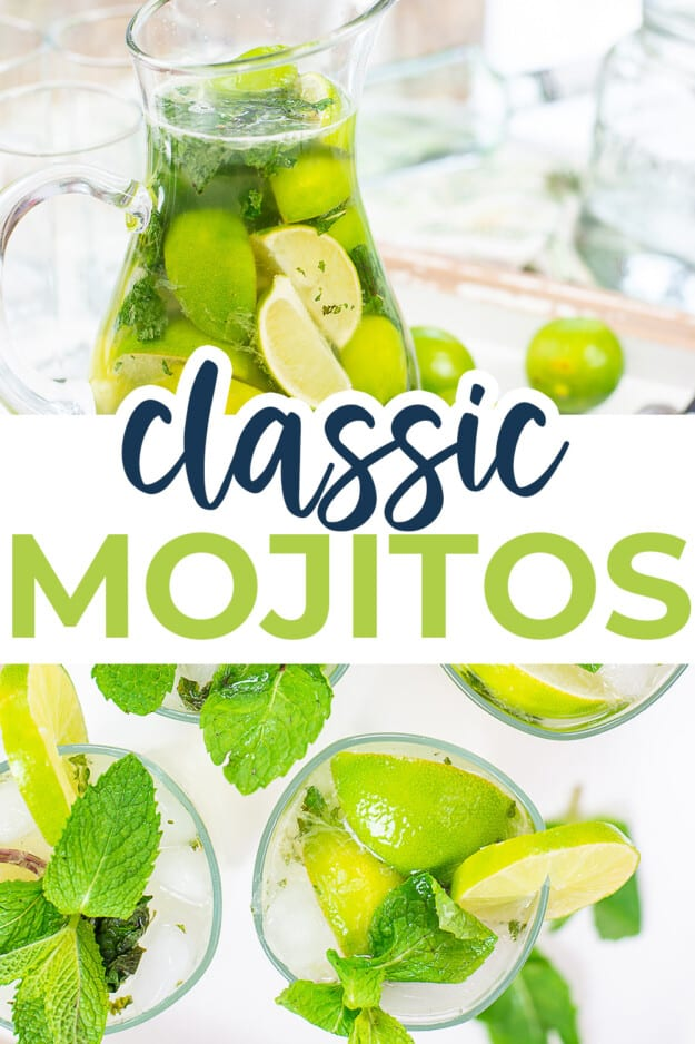 collage of mojito images.