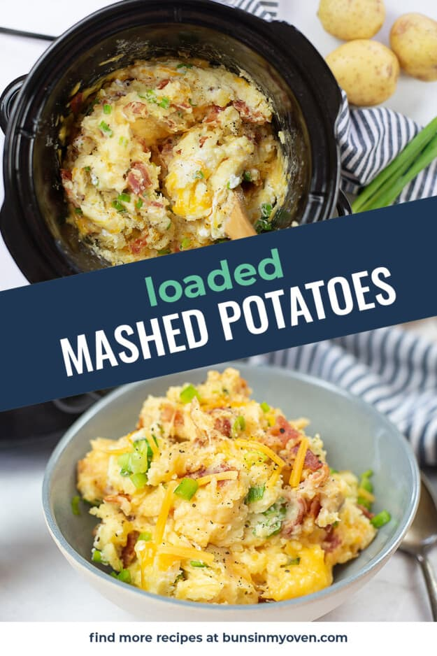 collage of mashed potato images with text for Pinterest.