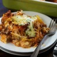 Million Dollar Spaghetti Squash Casserole - loaded with flavor, creamy cheese, and it's low carb too!