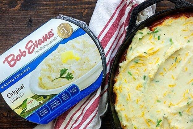 sloppy joe shepherd's pie with bob evans mashed potatoes