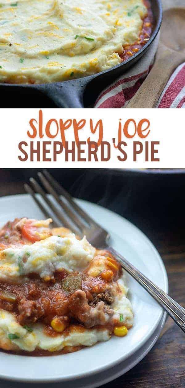 Sloppy Joe Shepherd's Pie! My kids gobble this one up! #sloppyjoe #shepherdspie