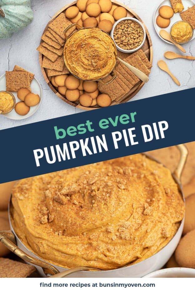 collage of pumpkin dip images.