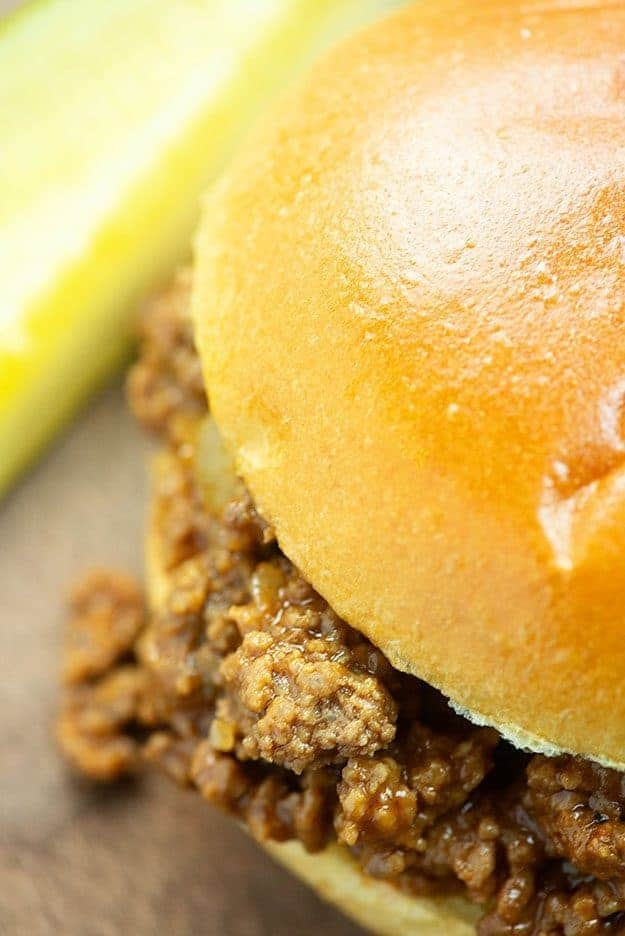 Homemade Sloppy Joe Recipe! We make this at least once a week in our house! #easy #recipes #sloppyjoe