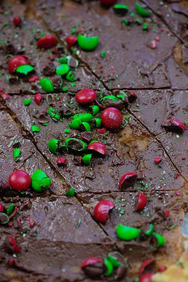 Christmas Crack! This holiday cracker toffee is my favorite Christmas treat to make every year! It's easy and quick and it is so fun and festive. #christmas #toffee #baking