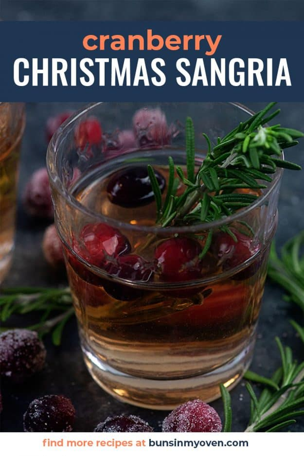 cranberry sangria in small glass.