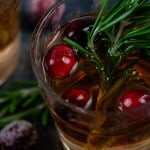 Christmas Sangria! Made with moscato, vodka, cranberries, and cider! #christmas #sangria #cocktails