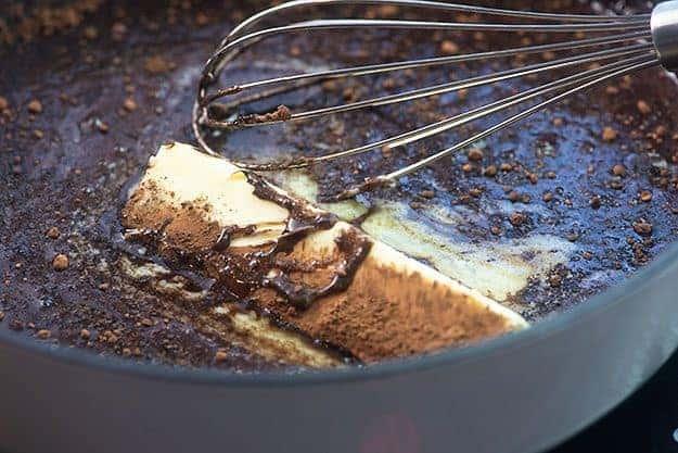 ingredients for no bake cookies in sauce pan