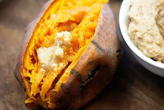 baked sweet potatoes with honey butter