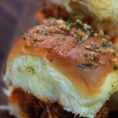 A close up of seasoned Hawaiian bread.