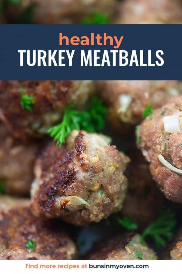 turkey meatballs piled together