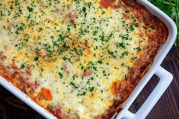 easy lasagna recipe made with ravioili