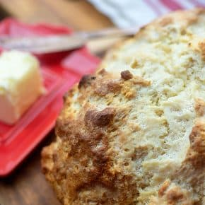 Traditional Irish Soda Bread! We make this all year long and slather with butter or jam! #irish #sodabread #easybreadrecipe #recipe
