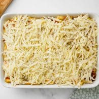 cheese on top of casserole.