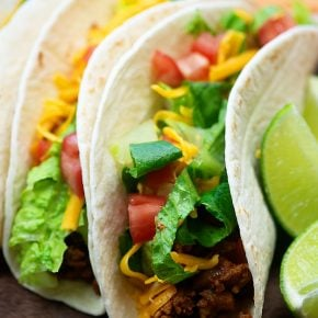 The BEST turkey taco recipe! No seasoning packet and oh so good! #tacos #turkey #recipe