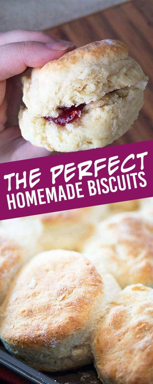 homemade biscuits photo collage.