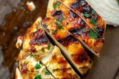 grilled chicken with bbq sauce