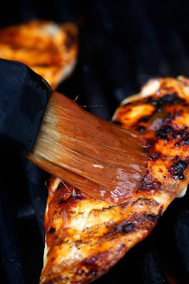 basting chicken breasts with bbq sauce