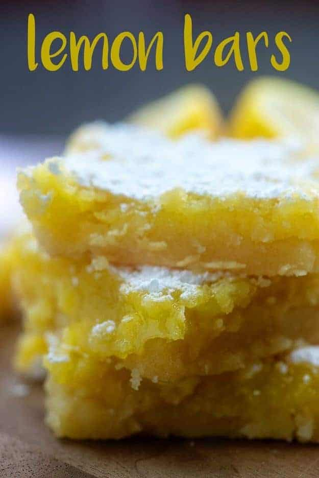 homemade lemon bar recipe