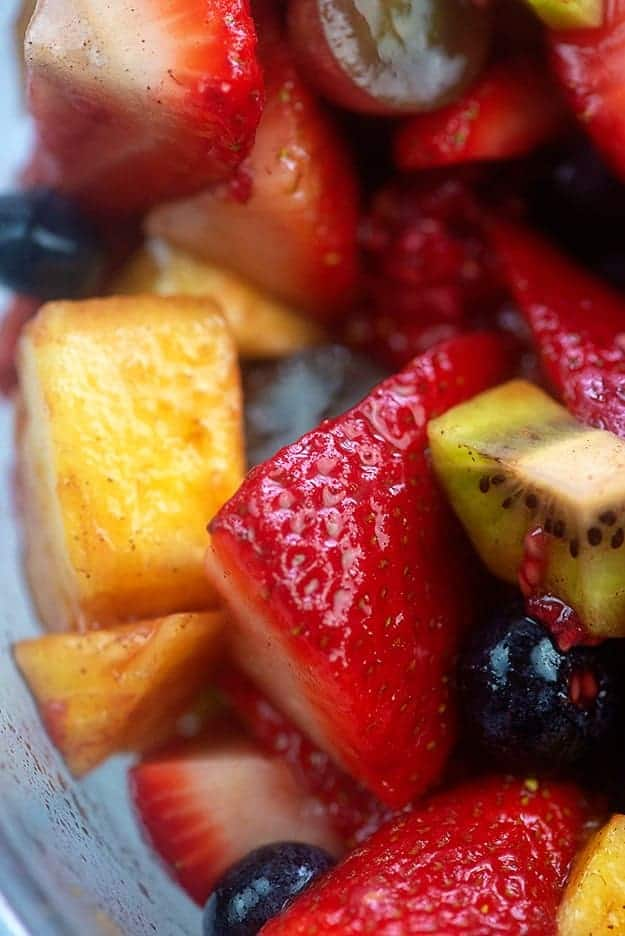 Close up of fruit salad.