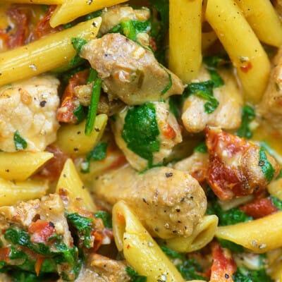 pork pasta skillet recipe