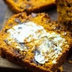 pumpkin chocolate chip bread slices