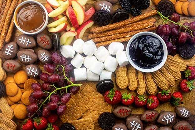 A bunch of sugary food on a table