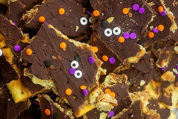 halloween cracker toffee