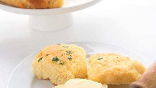 Cheddar Garlic Dinner Rolls - Fathead Dough Recipe