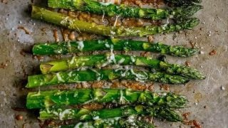 The Best Oven Roasted Garlic Parmesan Asparagus Recipe