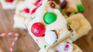 Christmas Candy Cookie Dough Fudge – Neighbor Gift