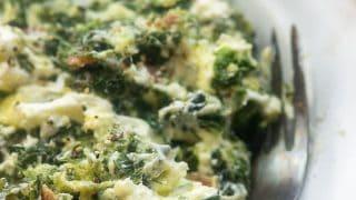 The CHEESIEST Spinach Casserole