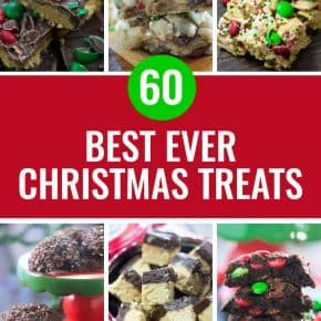 60 of our FAVORITE Christmas cookies, bars, candies, and treats in one easy spot! #christmas #baking #dessert #holidays