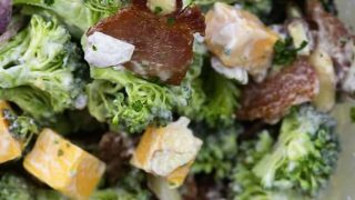Broccoli Salad with Bacon, Cheddar, and Ranch Dressing!