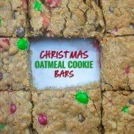 Christmas Oatmeal Cookie Bars Recipe
