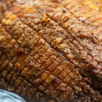 crockpot brown sugar glazed ham