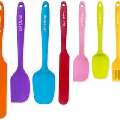 rainbow spatula set.