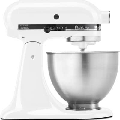 white stand mixer.