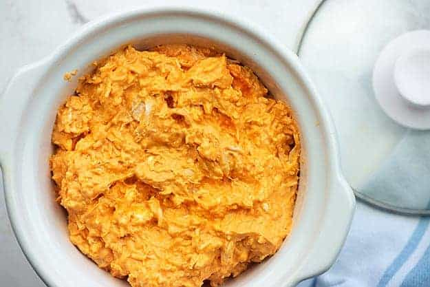 how to make buffalo chicken dip in a crockpot
