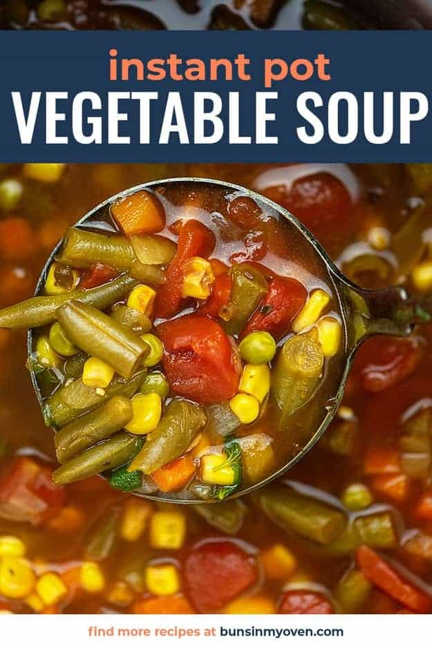 instant pot vegetable soup recipe