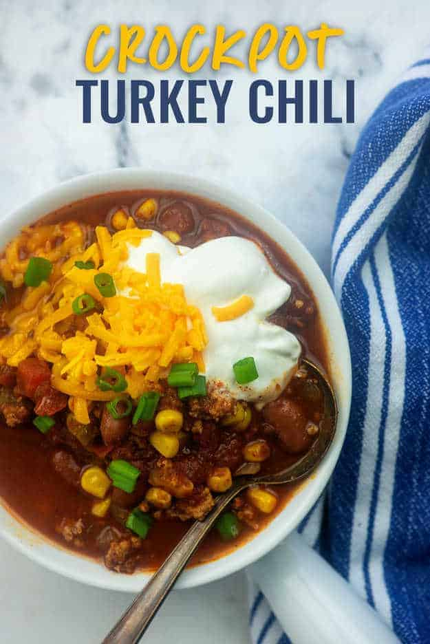 crockpot chili with turkey