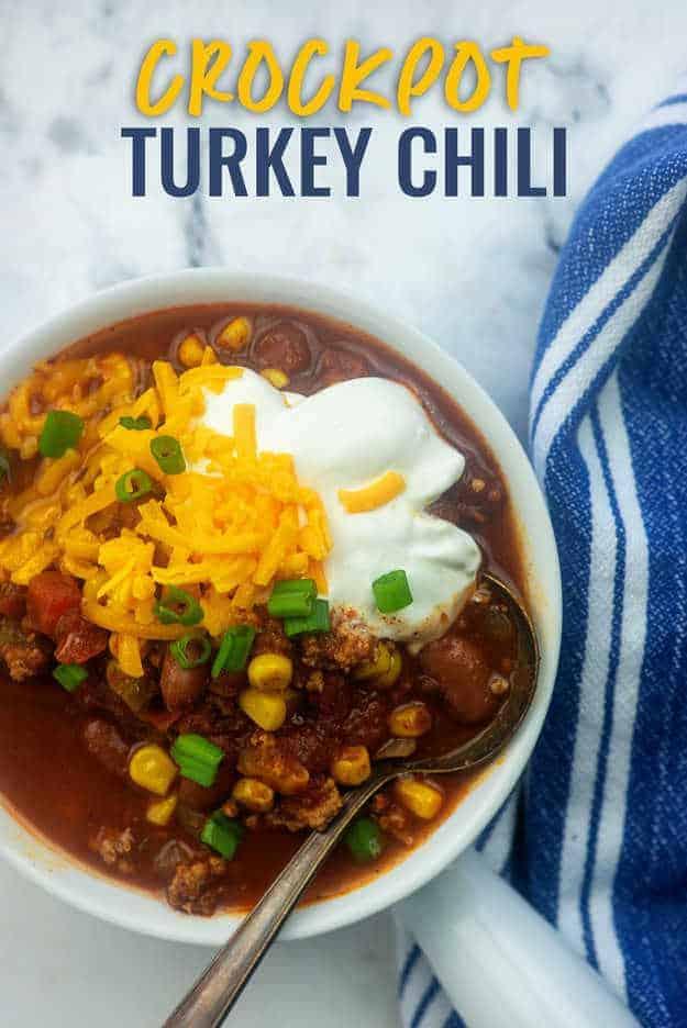 crockpot chili with turkey